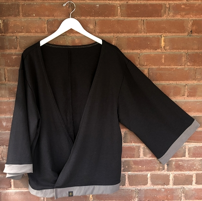 THE SIDDHI CARDI - BLACK with CHARCOAL