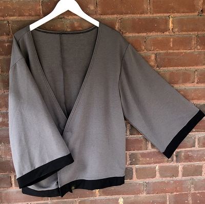 THE SIDDHI CARDI-CHARCOAL WITH BLACK